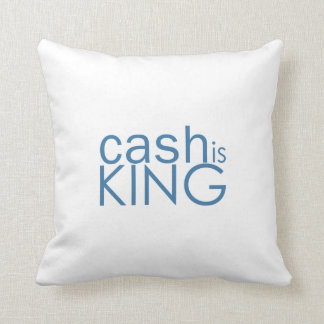 Cash Is King Throw Pillow
