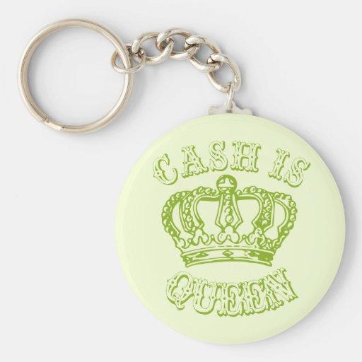 Cash Is Queen Keychain