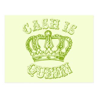 Cash Is Queen Postcard