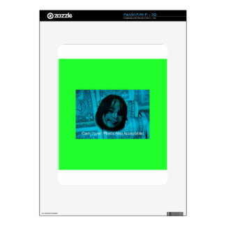 Cash Lover (Plastic Also Acceptable) Money Face iPad Skin