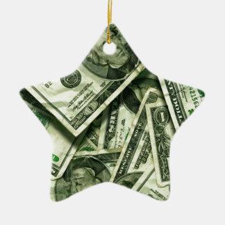 Cash money design christmas ornaments