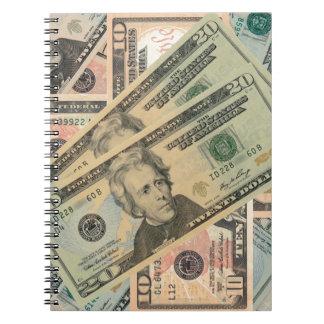 Cash Money Spiral Note Book