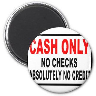 Cash Only No Checks Sign Refrigerator Magnets
