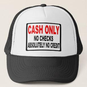 bf87bc4e Cash Only No Checks Sign Trucker Hat