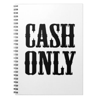 Cash Only Spiral Note Book