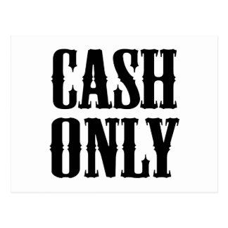 Cash Only Postcard