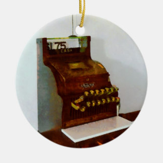 Cash Register Ceramic Ornament