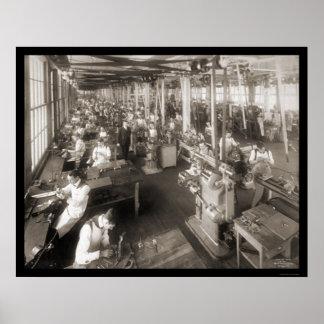 Cash Register Company Photo 1904 Print