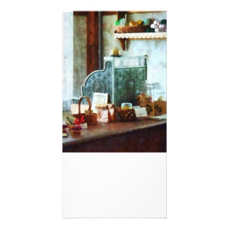 Cash Register in General Store Personalized Photo Card