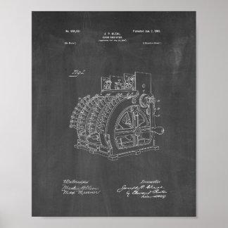 Cash Register Patent - Chalkboard Poster