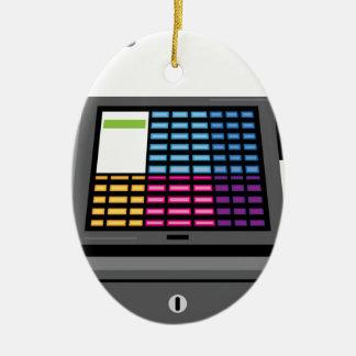 Cash Register Touch screen Ceramic Ornament