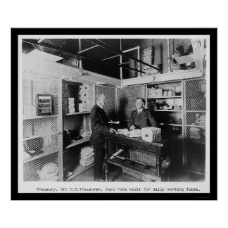 Cash Room in the US Treasury Vault 1912 Poster