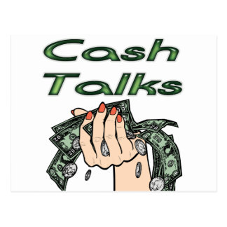 Cash Talks Postcard