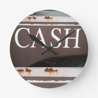 CASH Tow Truck Vintage Car Sign Round Wallclock