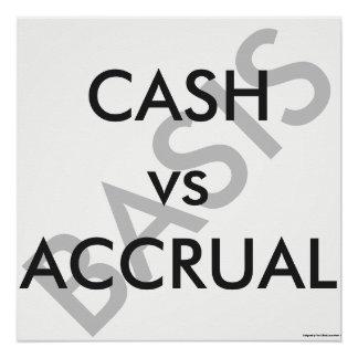 """CASH vs ACCRUAL Basis"" Poster"