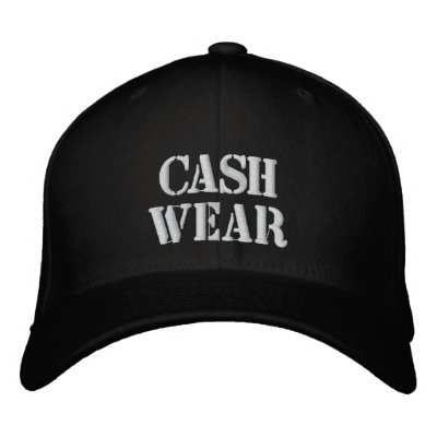 CASH WEAR EMBROIDERED BASEBALL CAP