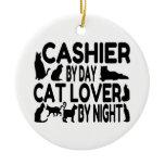 Cashier Cat Lover Ornament