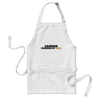 Cashier Powered By Beer Adult Apron