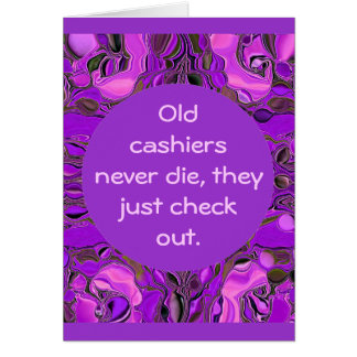 cashiers humor card