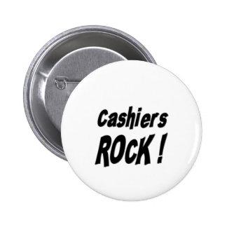 Cashiers Rock! Button