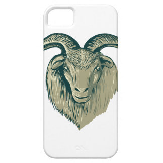 Cashmere Goat Head Drawing iPhone SE/5/5s Case