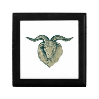 Cashmere Goat Head Drawing Jewelry Box