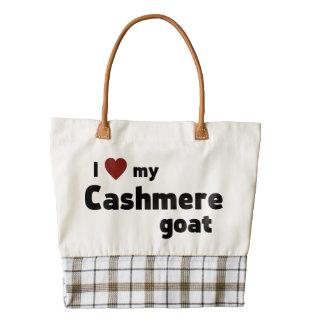 Cashmere goat zazzle HEART tote bag