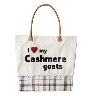 Cashmere goats zazzle HEART tote bag