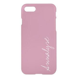 Cashmere Rose Soft Pink Solid Color Custom iPhone 8/7 Case