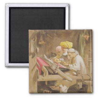 Cashmere Shawls: Weaving, 1863 (chromolitho) Magnet