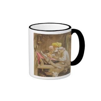 Cashmere Shawls Weaving 1863 chromolitho Mug