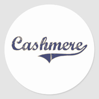 Cashmere Washington Classic Design Classic Round Sticker