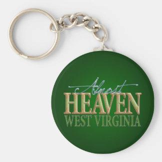Casi cielo Virginia_2 del oeste Llavero Redondo Tipo Pin