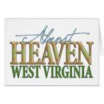 Casi cielo Virginia_2 del oeste Tarjetas
