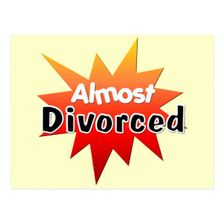Casi divorciado tarjeta postal