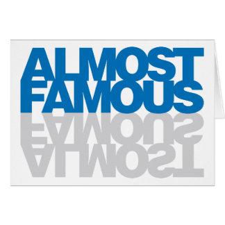 Casi famoso - azul tarjeta de felicitación