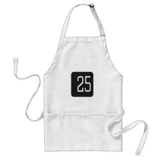 Casilla negra #25 delantales