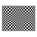 Casillas blancas negras frescas geométricas tarjeta postal