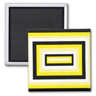 Casillas negras amarillas/ imán cuadrado