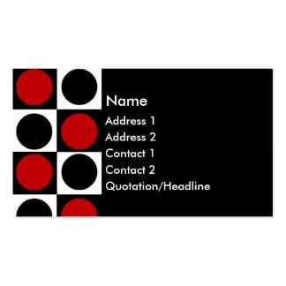 Casillas negras rojas y círculos blancos del KRW y Tarjetas De Visita
