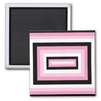 Casillas negras rosadas/ imán para frigorífico