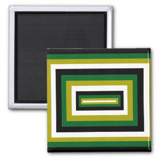 Casillas negras verdes/ imán cuadrado