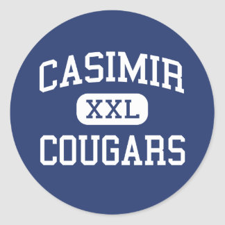 Casimir Cougars Middle Torrance California Classic Round Sticker