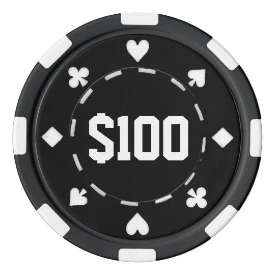 JOKER Clay Composite Poker Chip mit Wertaufdruck