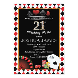 casino night invitations zazzle