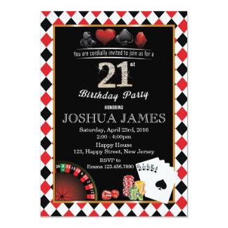 Casino 21st Birthday Invitation