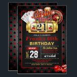 """Casino 21st Birthday Invitation<br><div class=""""desc"""">Perfect Invitation to Celebrate a Casino Birthday Party</div>"""