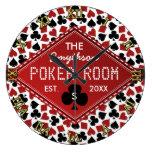 Casino adaptable del sitio del póker reloj redondo grande