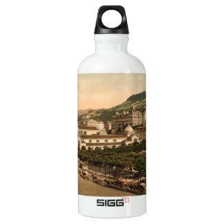 Casino and Baths, La Bourboule, Auvergne, France Water Bottle