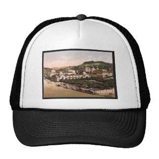Casino and baths, La Bourboule, France vintage Pho Hats